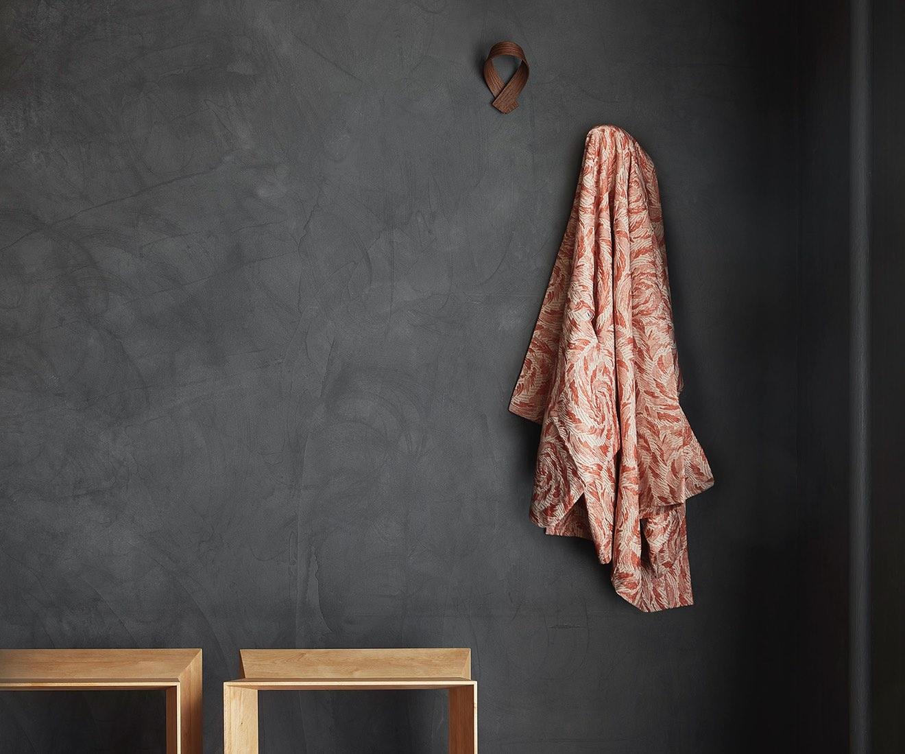 Interior photo of Motarasu designs - Ribbon coat hook and Reflex stool by Akiko Ken Made