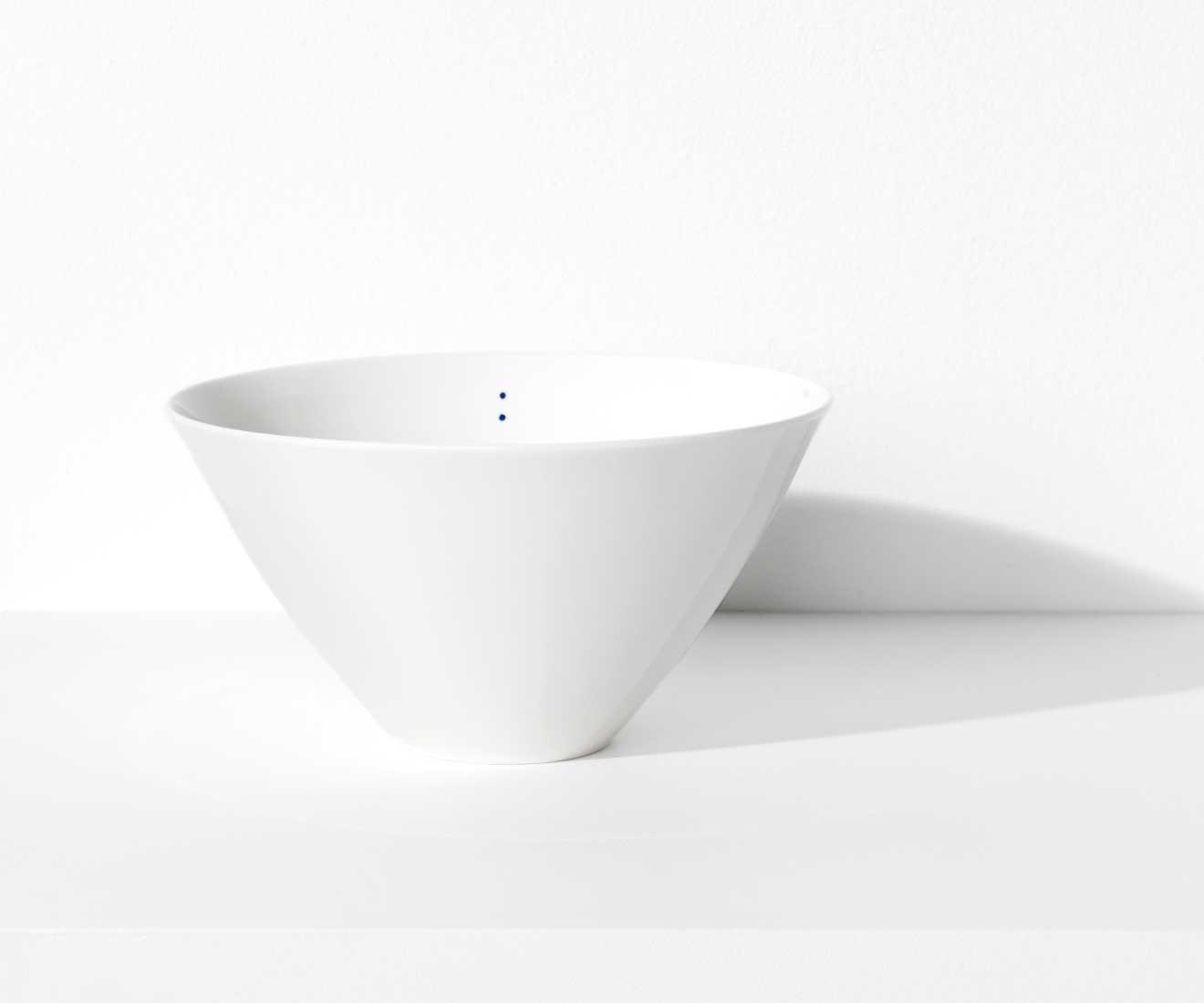 Motarasu Products - Shiro bowl Large with 2 dots by Stilleben