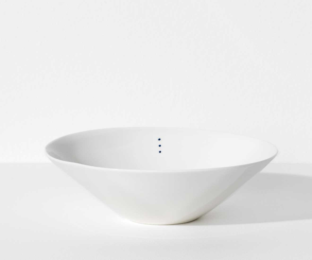 Motarasu Products - Shiro bowl Small with 3 dots by Stilleben