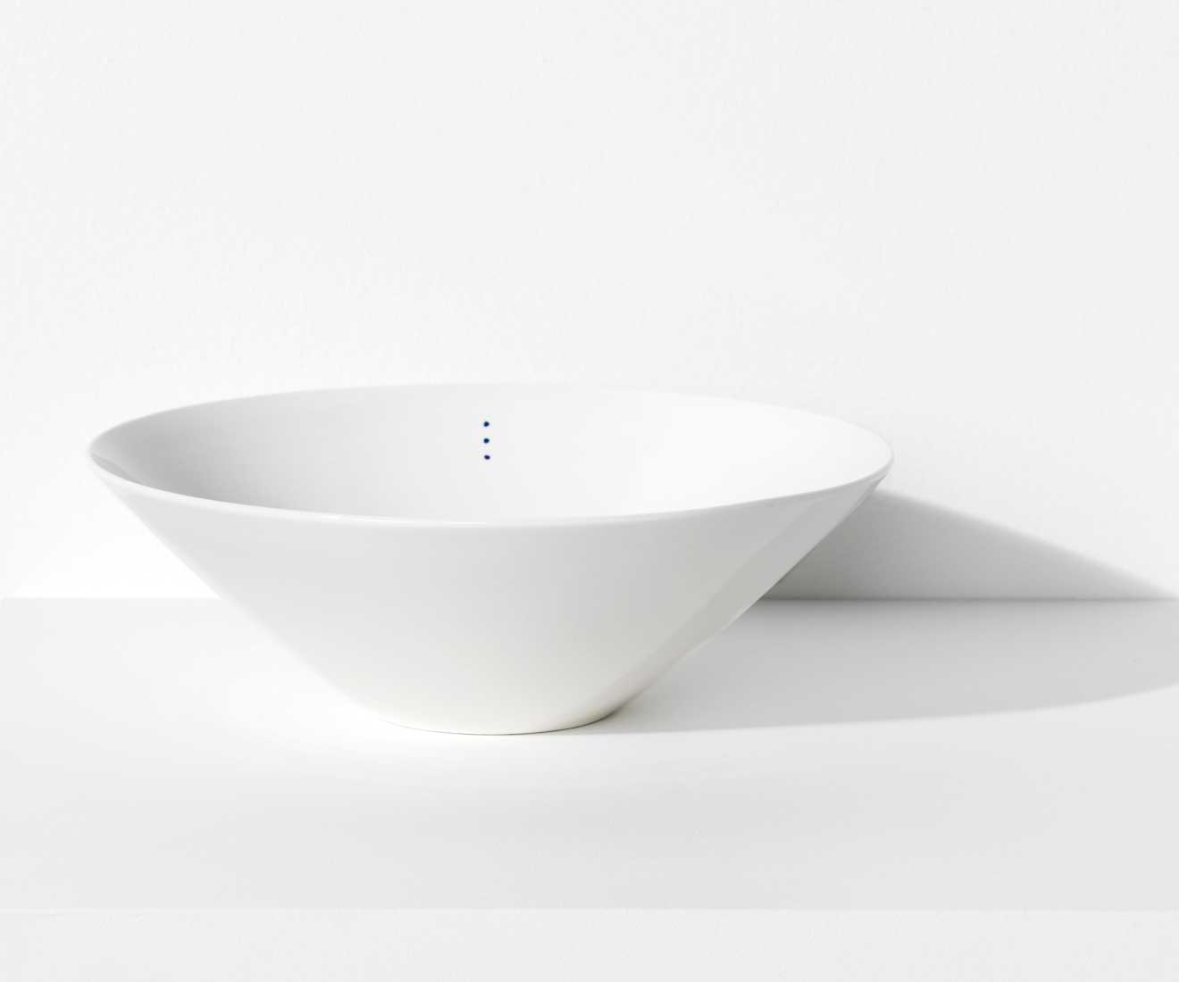 Motarasu Products - Shiro bowl Large with 3 dots by Stilleben