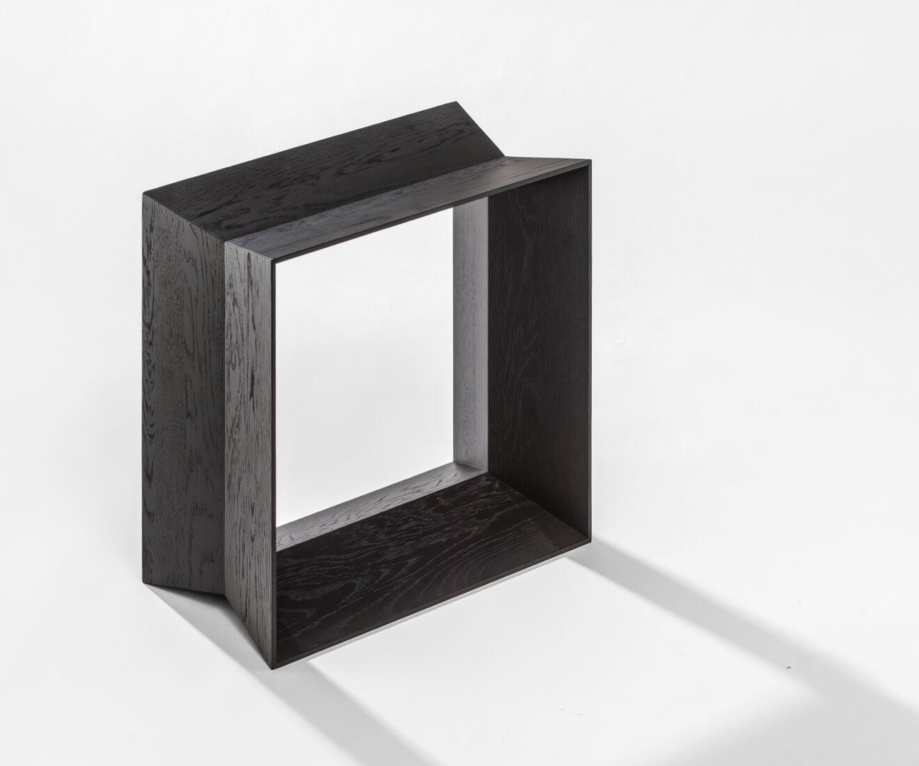 Motarasu Products - Reflex Stool in Black by Akiko Ken Made
