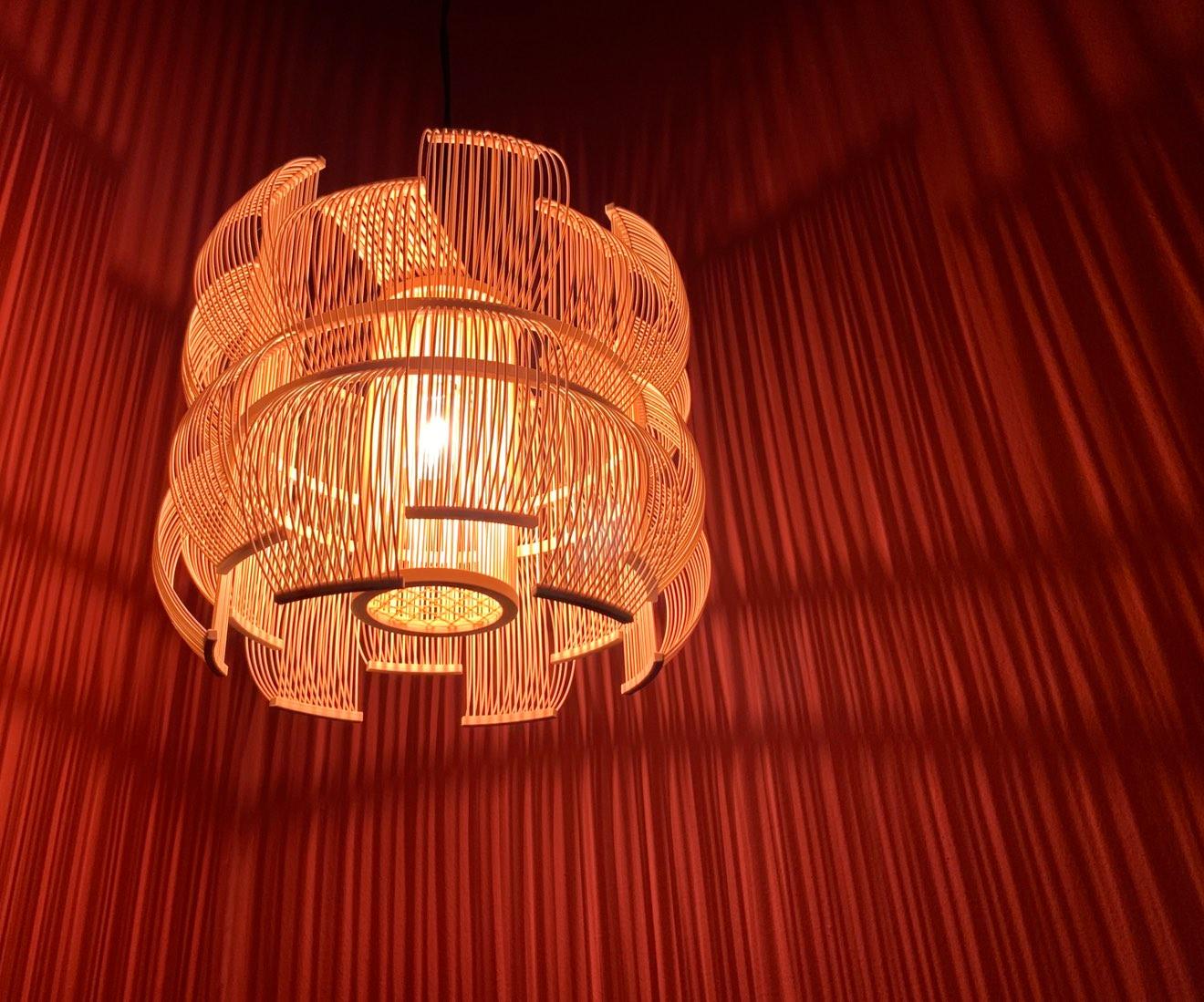 Interior photo of Motarasu design - SEN pendant lamp by Tani Toshiyuki